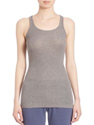Atm Anthony Thomas Melillo Racerback Tank Top Heather Grey