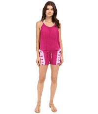 Lucky Brand Hazy Day Romper Cover Up Pink Glow Women's Jumpsuit And Rompers One Piece