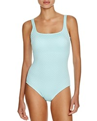 Gottex Diamond In The Rough One Piece Swimsuit Mint
