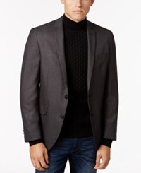 Kenneth Cole Reaction Men's Slim Fit Black Gray Micro Check Sport Coat Black Grey