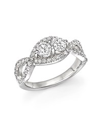Bloomingdale's Diamond Two Stone Twist Ring In 14K White Gold .75 Ct. T.W.