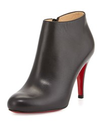 Christian Louboutin Belle Leather Red Sole Ankle Boot Black