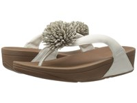 Fitflop Flowerball Leather Toe Post Urban White Women's Sandals Pink