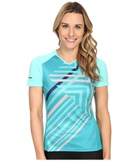 Pearl Izumi Launch Jersey Aqua Mint Women's Workout Blue
