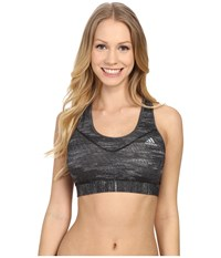 Adidas Techfit Bra Dark Grey Heather Matte Silver Women's Bra Gray