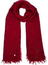 Ann Demeulemeester Woven Scarf Red
