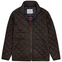 Joules Estate Quilted Jacket Bark Brown