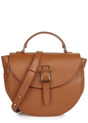 Meli Melo Ortensia Brown Leather Satchel Tan