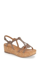 Women's Corso Como 'Sandi' Sandal Taupe Brushed Leather