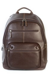Men's Boconi 'Tyler' Rfid Leather Backpack Brown Coffee