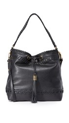 Milly Small Whipstitch Hobo Bag Black