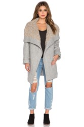 Free People Cozy Belted Wrap Coat Gray