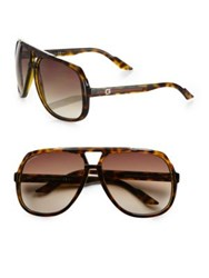 Gucci Plastic Aviator Sunglasses Brown