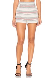 Bcbgeneration Stripe Crochet Short Ivory