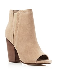 Splendid Kendyll Open Toe High Heel Booties Nut