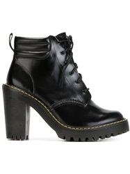 Dr. Martens Chunky Heel Lace Up Boots Black
