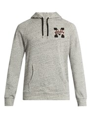 Maison Kitsune College Logo Hooded Cotton Sweatshirt Grey