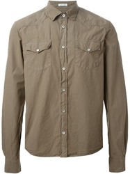 Tomas Maier Classic Collar Shirt Nude And Neutrals