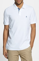 Original Penguin Men's 'Daddy O' Pique Polo Bright White