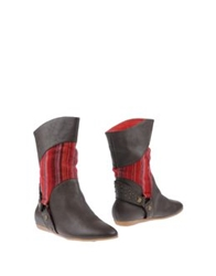 F Troupe Ankle Boots Dark Brown
