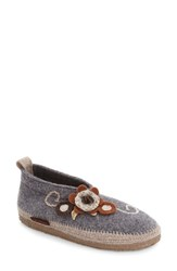 Giesswein Women's 'Lunz' Slipper Stone Wool
