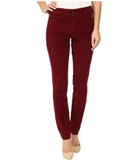 Nydj Alina Legging Jeans In Corduroy Antique Ruby Women's Jeans Red
