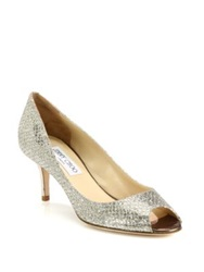 Jimmy Choo Isabel Glitter Pumps Champagne