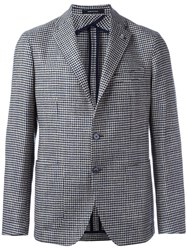 Tagliatore One Button Blazer Blue