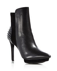 Alice Olivia Toro Spiked High Heel Booties Black