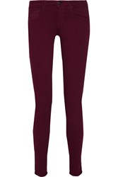 Vince Riley Mid Rise Skinny Jeans Red