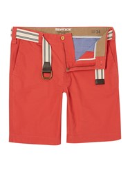 Howick Flat Front Shorts Coral