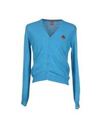 Joe Rivetto Knitwear Cardigans Men Turquoise