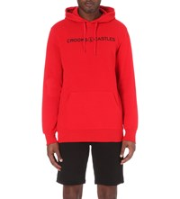Crooks And Castles Etched Medusa Cotton Blend Hoody True Red