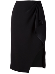 Altuzarra Draped Pencil Skirt Black