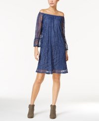 Styleandco. Style Co. Off The Shoulder Lace Dress Only At Macy's New Unifrm Blue