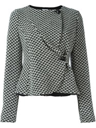 Armani Collezioni Fitted Wrap Jacket Black