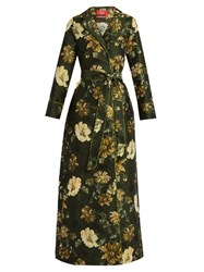 F.R.S Roda Floral Jacquard Dress Green Multi