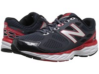 New Balance M680v3 Outer Space Chinese Red Men's Running Shoes Black