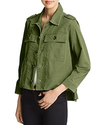 Aqua Army High Low Jacket Army Green
