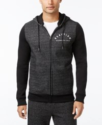 Kenneth Cole Reaction Downtime Marled Zip Hoodie Charcoal Heather