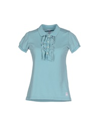 Authentic Original Vintage Style Polo Shirts Sky Blue