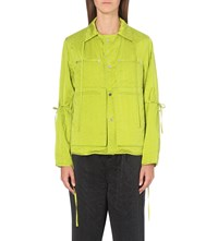 Craig Green Boxy Fit Silk Jacket Lime Green