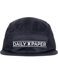 Daily Paper Black Strap Logo 5 Panel Cap