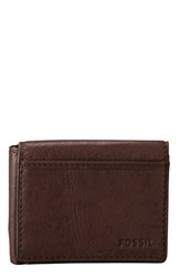 Men's Fossil Execufold Wallet Brown