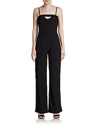 French Connection Cutout Wide Leg Jumpsuit Black