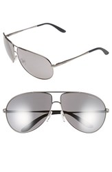 Men's Carrera Eyewear 64Mm Aviator Sunglasses Dark Ruthenium Black Mirror