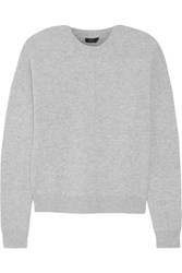 Joseph Boiled Wool Sweater Gray