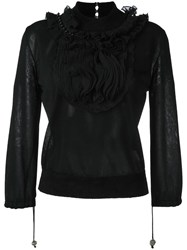 Antonio Marras Ruffle Collar Knitted Top Black