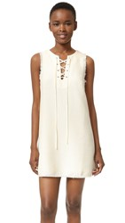 J.O.A. Lace Up Dress Cream
