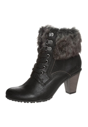 Tom Tailor Laceup Boots Black